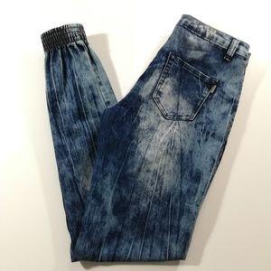 Twelve K Girls acid wash stretch jeans Size 16